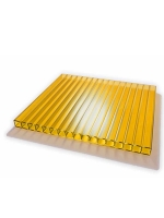 Сотовый поликарбонат желтый