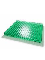 Сотовый поликарбонат зеленый